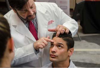Doctor explaining facial aeshtetic procedure