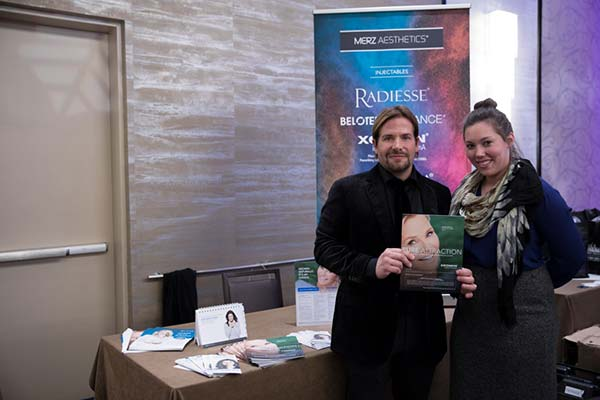 Dr. Cosentino with a representative from Merz Aesthetics