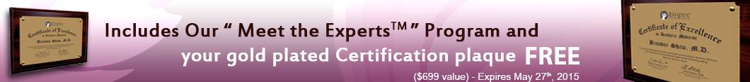Medical Certification Plaque