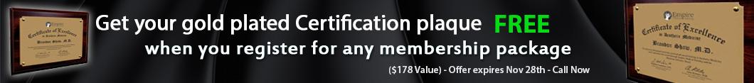 Certification Plaque